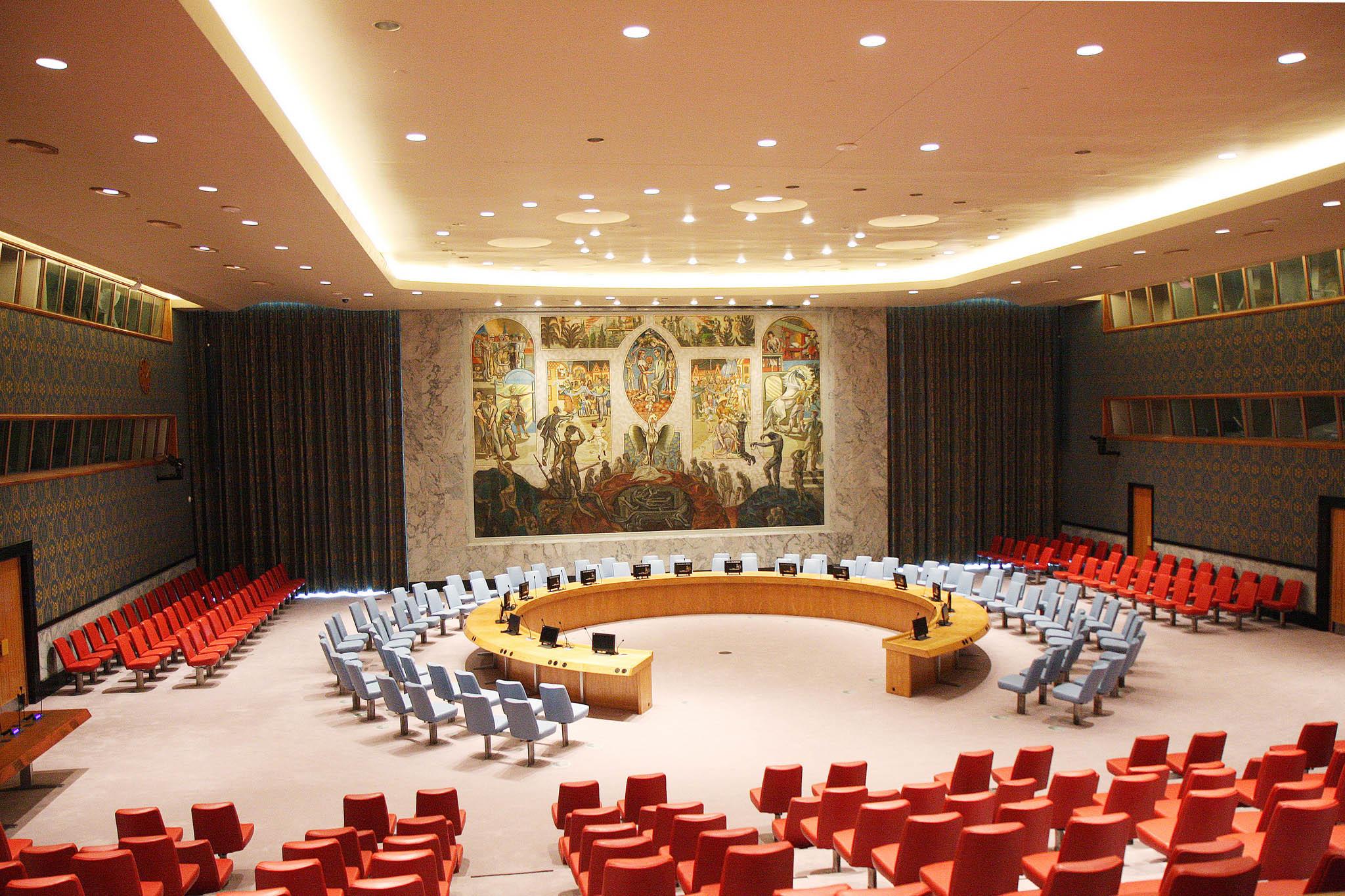 Зал заседаний Совета Безопасности ООН фото 2